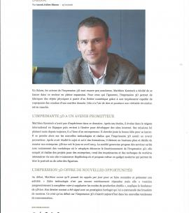 article Business Magazine impression 3D - 3Dvice.ch